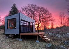 Private Tiny Cabin on 576 acres on Quiet Lake - Cottages for Rent in Mountain Grove, Ontario, Canada Tiny House France, Off Grid Cabin, Casas Containers, Tiny Cabins, Modular Cabins, Lake Cottage, Cozy Cabin, Off The Grid, Tiny House On Wheels
