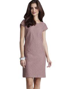 Lace Shift Dress - mauve