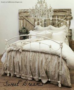 Drop cloth bedding