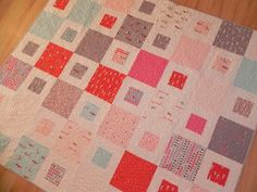Samelia's Mum: 1 + 2 = Easy Quilt Pattern (Tutorial).  I think I will give this a go and make one for my neice.  Looks easy - famous last words lol