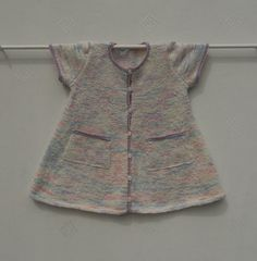 Dress/pinafore/smock for baby girl/toddler age 18 by TradKnits