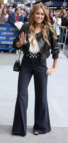 Lauren Conrad, pear body type, high waisted flares