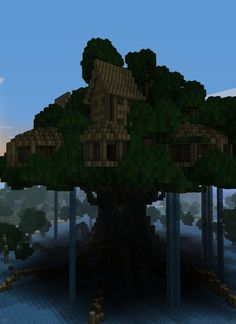 Cool Tree Houses In Minecraft Minecraft Castle, Minecraft Blueprints, How To Play Minecraft, Minecraft Skins, Minecraft Fort, Minecraft Cave House, Minecraft Treehouses, Minecraft Creations, Minecraft Designs