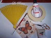 La Rubia y sus manualidades: Abanico Paso a Paso Decoupage Tutorial, Origami, Diy And Crafts, Scrap, Sewing, Projects, How To Make, Gifts, Hand Fans