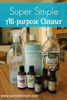 Every couple of months, my 3 year old climbs up on the kitchen counter to help me make my Super Simple DIY All Purpose Cleaner. He loves smelling the essential oils we put in. It takes about 5 minutes to make up a large batch and it costs a fraction of the price of store-bought cleaners. Super Simpl…