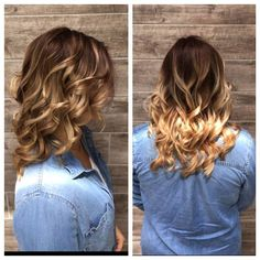 """Stylist Diana's latest """"fall color"""" creation is just too gorgeous! #fall #hairstyle"""