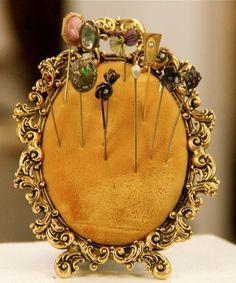 Antique Hat Pins (frame with felt or velvet as holder)