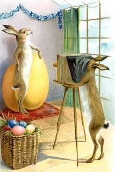 Vintage German Easter Greeting Card