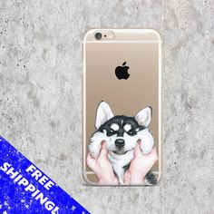 iPhone 7 Dog case Samsung S7 Husky case iPhone 6S Plus Cute case iPhone 6 Fun case Samsung S6 Clear cover Samsung Note 5 case iPhone 7 Plus