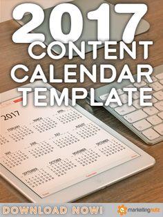 content marketing blog editorial calendar template