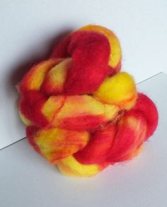Hand Dyed/Painted SHETLAND FIBRE Wool by MagpieLaneCrafts on Etsy, £10.00