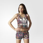 adidas Originals and Brazilian trendsetters The FARM Company team up to create pieces that burst with color and energy. Inspired by their homeland of Brazil, the land of toucans, tropical fruit and dreamy white beaches, The FARM Company has designed prints that are vivid and unique. This women's tank top comes with allover patchwork flowers inspired by crochet designs. It's made in lightweight, floaty fabric that's just right for warm breezes.