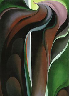 Georgia O'Keeffe - Jack in the Pulpit No. V, oil on canvas.