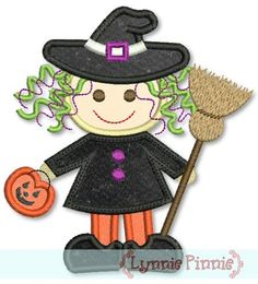 Cutest L'il Witch Applique Halloween