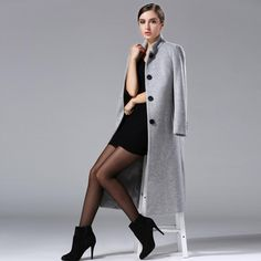 9f6fee58a8b Women s Long Trench Coat Autumn and Winter Beautiful Overcoat Women New  Classic Cashmere Coat Plus Size Wool Outerwear-in Wool   Blends from Women s  ...