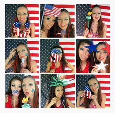 21 patriotic USA photo booth props  perfect for 4th of July, $14.99