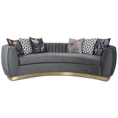 Modern Art Deco Style Sofa with Long-Arm Tufting Charcoal Velvet & Gold Toe Kick For Sale Art Deco Sofa, Art Deco Furniture, Sofa Furniture, Modern Furniture, Steel Furniture, Furniture Dolly, Furniture Online, Garden Furniture, Antique Furniture