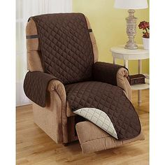 Carol Wright Gifts Reversible Furniture Covers, Brown, Size Recliner L x W) Recliner Chair Covers, Recliner Slipcover, Couch Covers, Chair Upholstery, Slipcovers, Chairs For Bedroom Teen, Outdoor Furniture Chairs, Dining Chairs, Furniture Covers