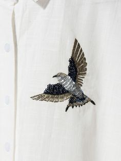 Blusa Bird, Blanco Holiday Outfits, Brooch, Blouse, Bird, Clothes, Style, Fashion, Shirts, Winter