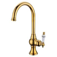 Horisontell montering Singel Handtag Ett hål with Ti PVD Köksblandare Cheap Kitchen Faucets, Kitchen Taps, Kitchen Flooring, Kitchen And Bath, Good And Cheap, Mold And Mildew, Buying Wholesale, Deck, Handle