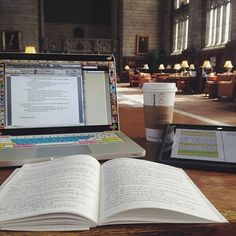 Imagen de study, book, and coffee