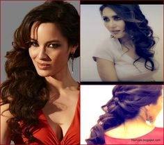 Berenice Marlohe 007 bond girl hair tutorial - sexy half-up half-down updo hairstyle with sofr, romantic waves - easy hairstyles - formal occasion - wedding updos