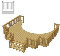 Image result for above ground pool deck ideas