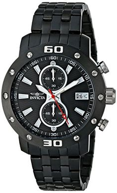 Men's Wrist Watches - Invicta Mens INVICTA17735 Specialty Analog Display Japanese Quartz Black Watch * See this great product.