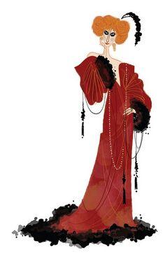 Luisa Casati. Art by DEANNA MARSIGLIESE: http://www.deannamarsigliese.com