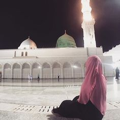 There is no place like Medina Arab Girls Hijab, Muslim Girls, Muslim Couples, Muslim Women, Muslim Pictures, Islamic Pictures, Muslim Hijab, Islam Muslim, Alhamdulillah