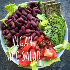 HIGH RAW VEGAN RECIPE VEGAN TACO SALAD! HEALTHY 15 MINUTE MEALS