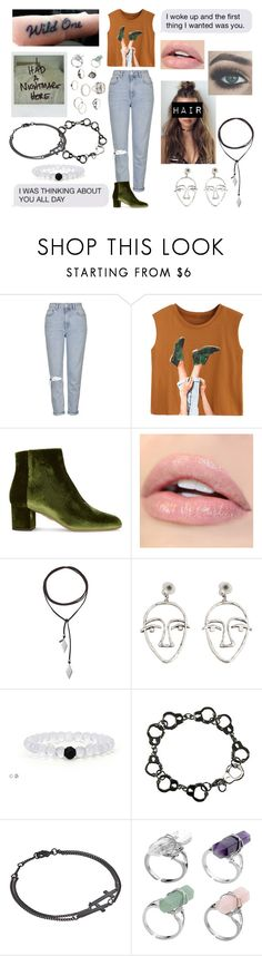 """""""wild one"""" by thatkidinlove ❤ liked on Polyvore featuring Topshop, Aquazzura, Vanessa Mooney, MANGO, Fad Treasures, Dsquared2, Charlotte Russe, polyvorecommunity, fashionset and polyvoreeditorial"""