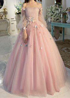 Off-the-shoulder wedding dress long sleeves Prom Dresses Unique Prom Dress Long Evening Dresses strapless party dress - Alison Dress Prom Dresses Long With Sleeves, Unique Prom Dresses, Long Wedding Dresses, Ball Dresses, Elegant Dresses, Pretty Dresses, Beautiful Dresses, Dress Long, Dress Formal