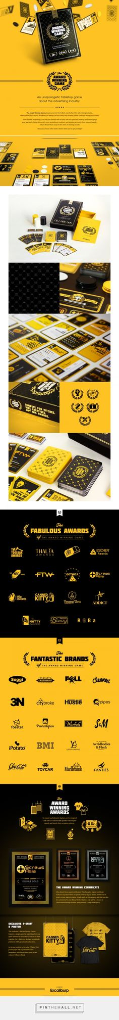 The Award Winning Game packaging on Behance curated by Packaging Diva PD. An unapologetic tabletop game about the advertising industry. This looks like fun : )