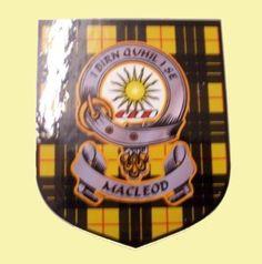 For Everything Genealogy - MacLeod Of Lewis Clan Tartan Clan MacLeod Badge Shield Decal Sticker Set of 3 , $15.00 (http://www.foreverythinggenealogy.com.au/macleod-of-lewis-clan-tartan-clan-macleod-badge-shield-decal-sticker-set-of-3/)
