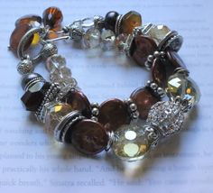 chunky bracelet multi strand bracelet pearl by soulfuledges
