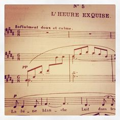 One of my favourites, L'heure exquise by Reynaldo Hahn. #LHeureExquise #ReynaldoHahn