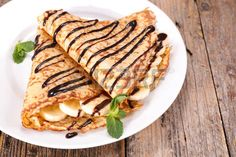 Peanut Butter & Banana Crepes on your Blackstone Griddle - Blackstone Products Banana Crepes, Nutella Crepes, Outdoor Griddle Recipes, Crepes Rellenos, Crepes Filling, Blackstone Griddle, Grilled Desserts, Griddle Grill, Crepe Maker