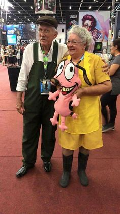 Courage the Cowardly Dog Honestly the best elderly cosplay