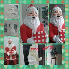 Ho! Ho! Ho! Paper mache Santa created for my last creation. Standing at a height of 1.8m. It was a blast creating the sculpture!  #lusicreations