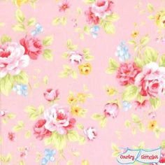 Lecien Antique Flower Pastel Pink Floral