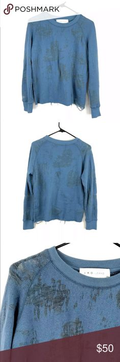 fb505528f7502 IRO Jeans Distressed Textured Sweater Pre-owned