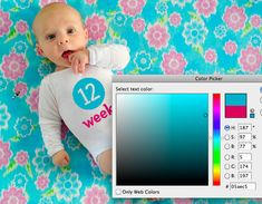 Using photoshop to add in text on clothing.  Very simple and cute idea!