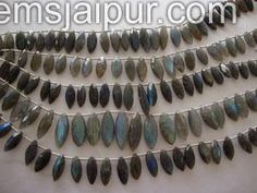 Labradorite Faceted Marquise Gemstone Beads.