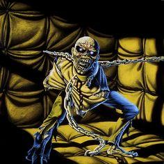 Derek Riggs (GB 1958 -).Band: Iron Maiden. Album: Piece of mind