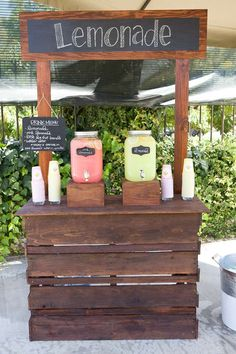 Drink station at a Little Miss Sunshine birthday party! See more party planning ideas at CatchMyParty.com!
