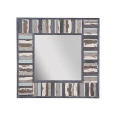 So beach cottage perfect - this large x square Seaside Boardwalk Mirror is hand painted in blue and sandy shades of summer at the beach with distressed looking planks. Coastal Farmhouse, Farmhouse Style, Coastal Inspired Mirrors, Mirror Shapes, Painted Cottage, Paint Set, Round Mirrors, How To Distress Wood, Wood Planks