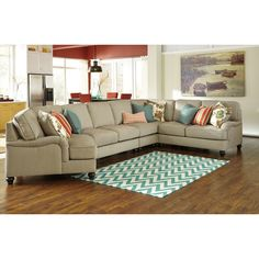 Ashley Furniture Kerridon Sectional in Putty