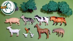 Learn names of farm animals with animal sounds for kids