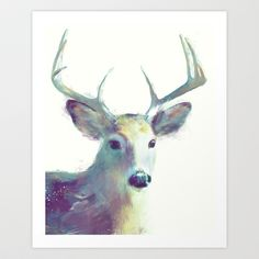 Whitetail No. 2 Wall Tapestry by amyhamilton Canvas Art, Canvas Prints, Bedroom Art, Large Painting, Art Pictures, Wall Tapestry, Framed Art Prints, Original Art, Art Gallery